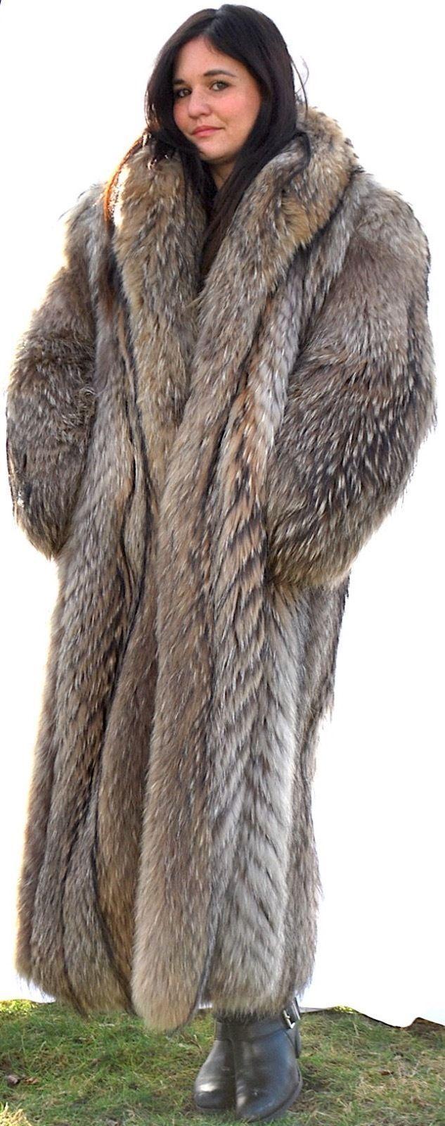 cool MARY MCFADDEN TANUKI FUR FULL LENGTH FUR COAT HIGH END ...