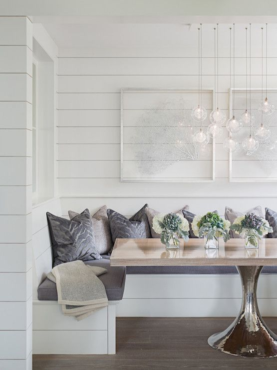 U Shaped Dining Banquette Transitional Room Sophie Metz Http Nookbanquette Tablekitchen