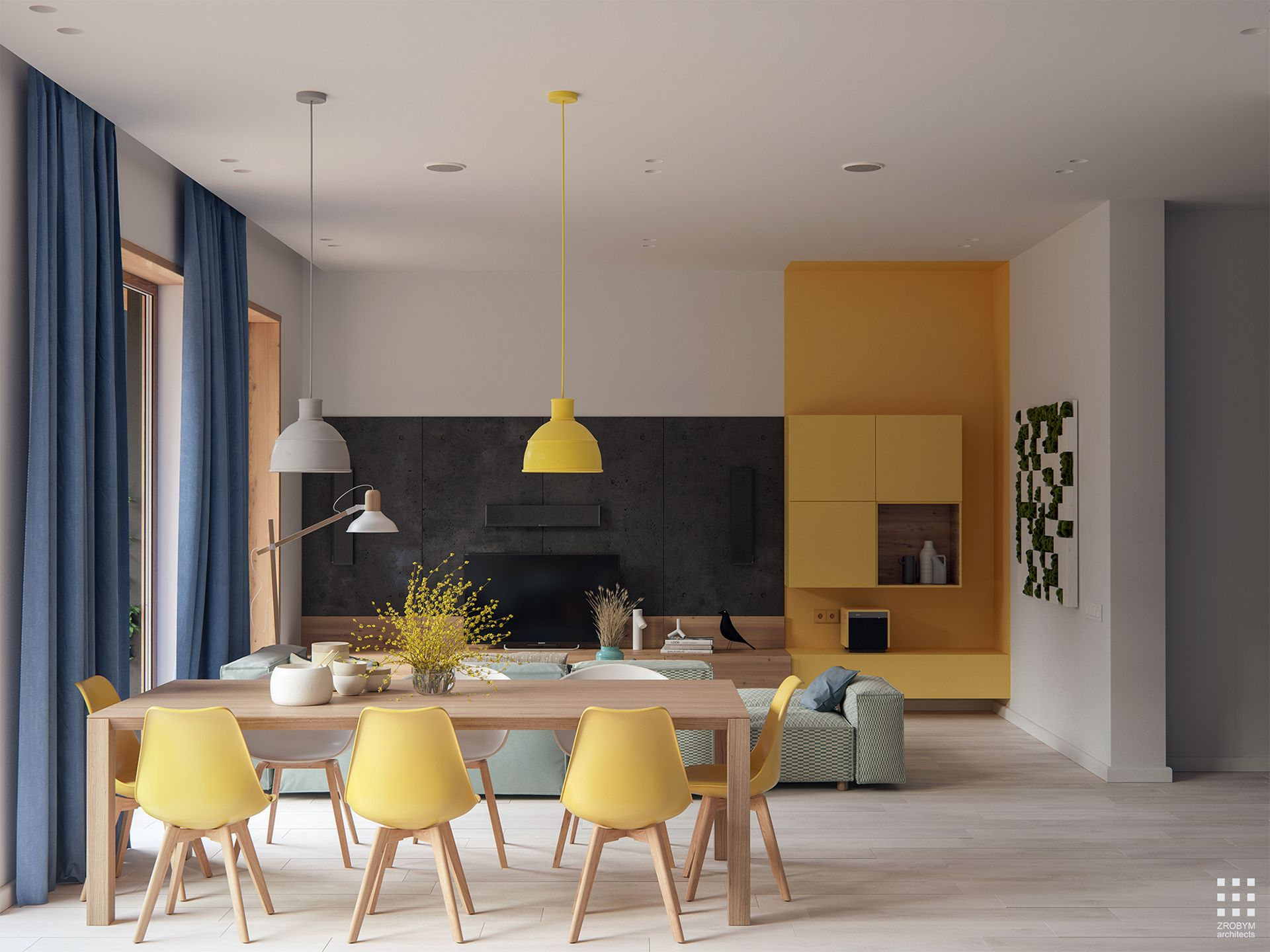 SOSNOVAYA interior on Behance | Minimalist dining room ...