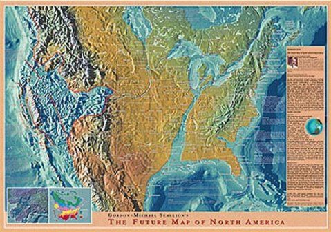 This is a map I found online of what the navy has predicted the US - new world clock map online