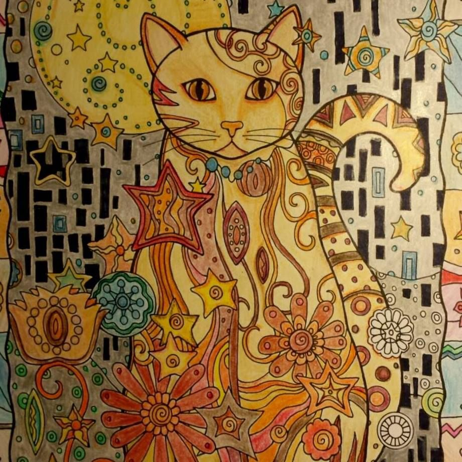Creative Haven Cats Coloring Book Using Colored Pencils And Ink