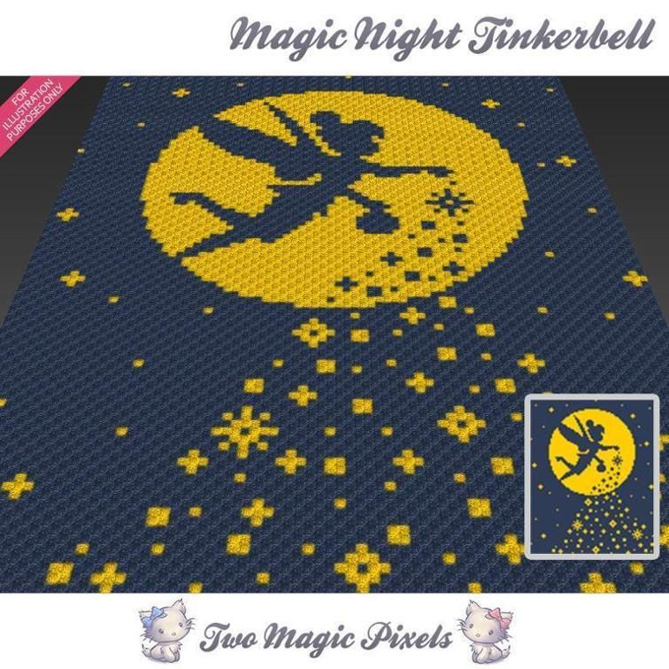 Magic Night Tinkerbell C2C Crochet Graph | Häkeln
