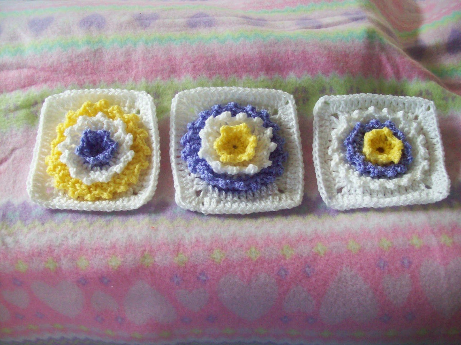 Arise and Shine-Flower Square ~ Cats-Rockin-Crochet