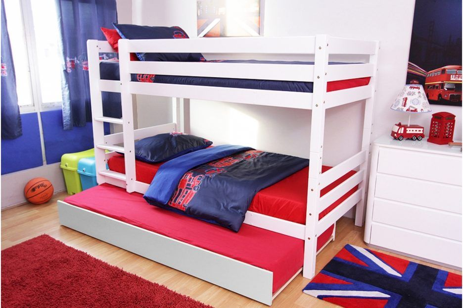 Etagenbett Ausziehbar : Ideal twin über etagenbett mit ausziehbares kinderzimmer