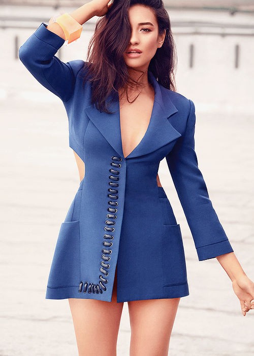 Shay Mitchell's shoot for Flare Magazine.