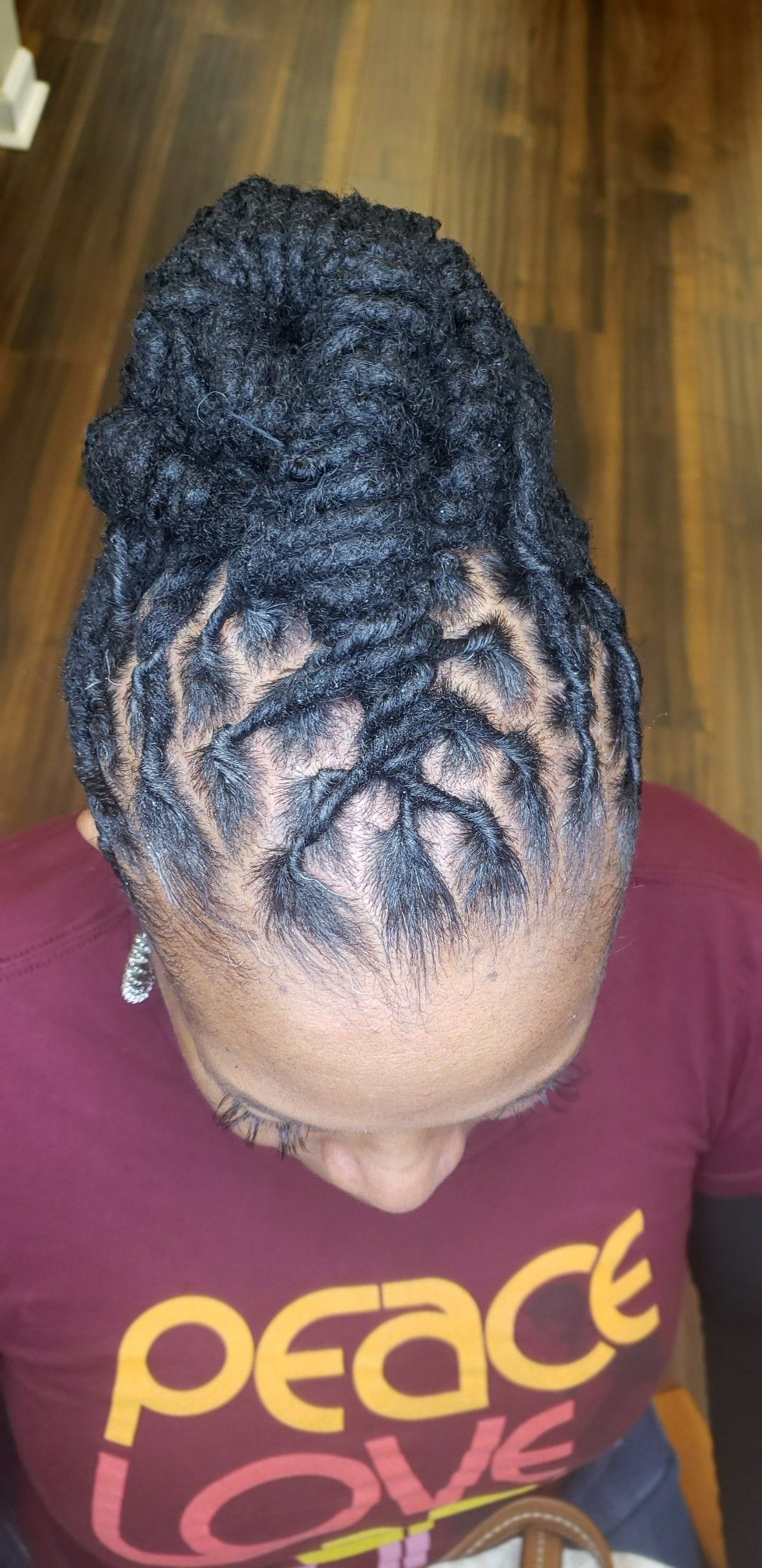 Loc Updo In 2020 Natural Hair Salons Natural Hair Styles Textured Curly Hair