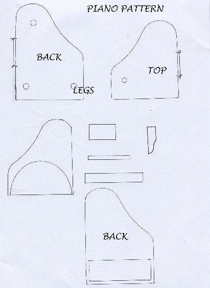 Piano Template | Paper Crafts | Pinterest | Pianos, Template and Cards