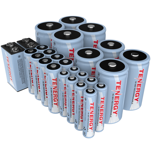 Combo 26pcs Tenergy Nimh Rechargeable Batteries 8aa 8aaa 4c 4d 2 9v Nimh Rechargeable Batteries Batteries