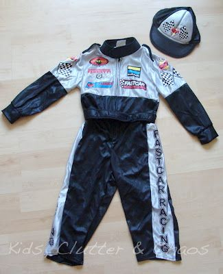 Kids Clutter And Chaos Halloween 2012 Toddler Race Car Driver Costume Revi Cute Costumes For Kids Race Car Driver Costume Race Car Driver Halloween Costume