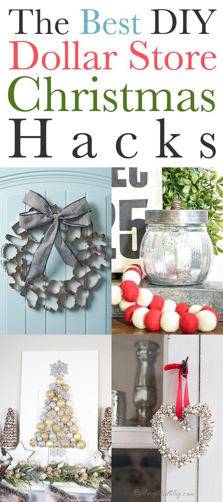 The Best DIY Dollar Store Christmas Hacks #dollarstorechristmascrafts