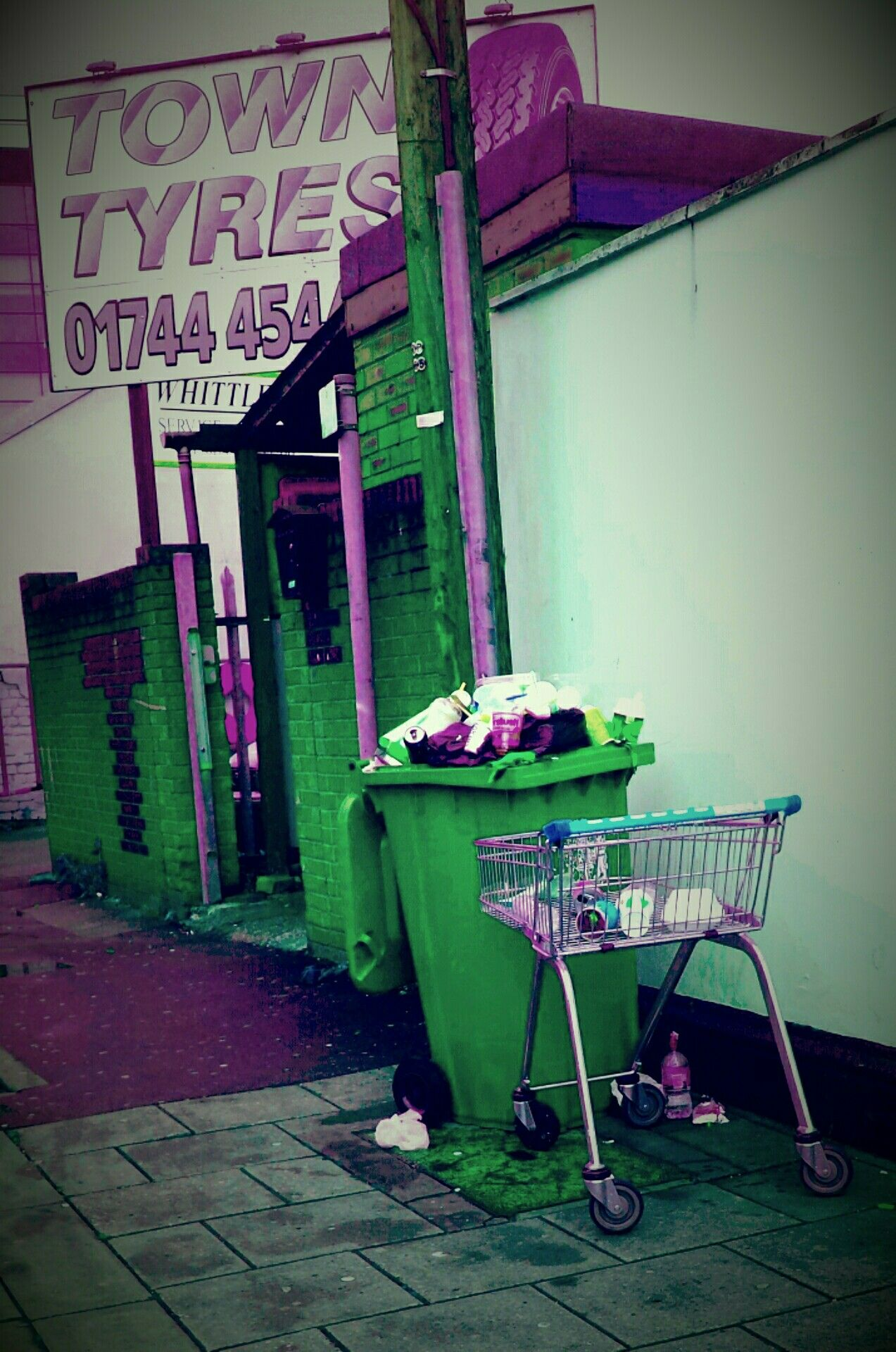 Town Tyres Trash Trolley