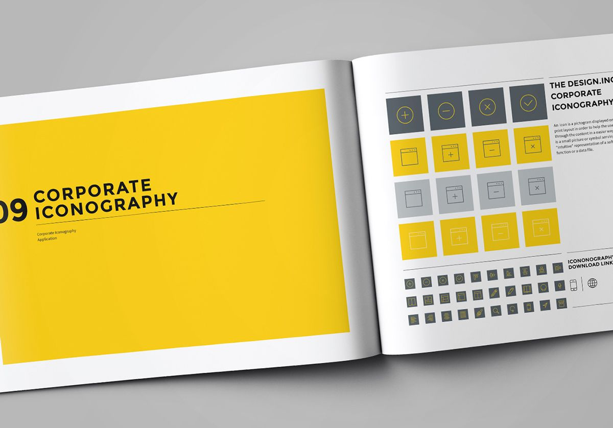 Brand manual on behance style guides pinterest for Visual style guide template