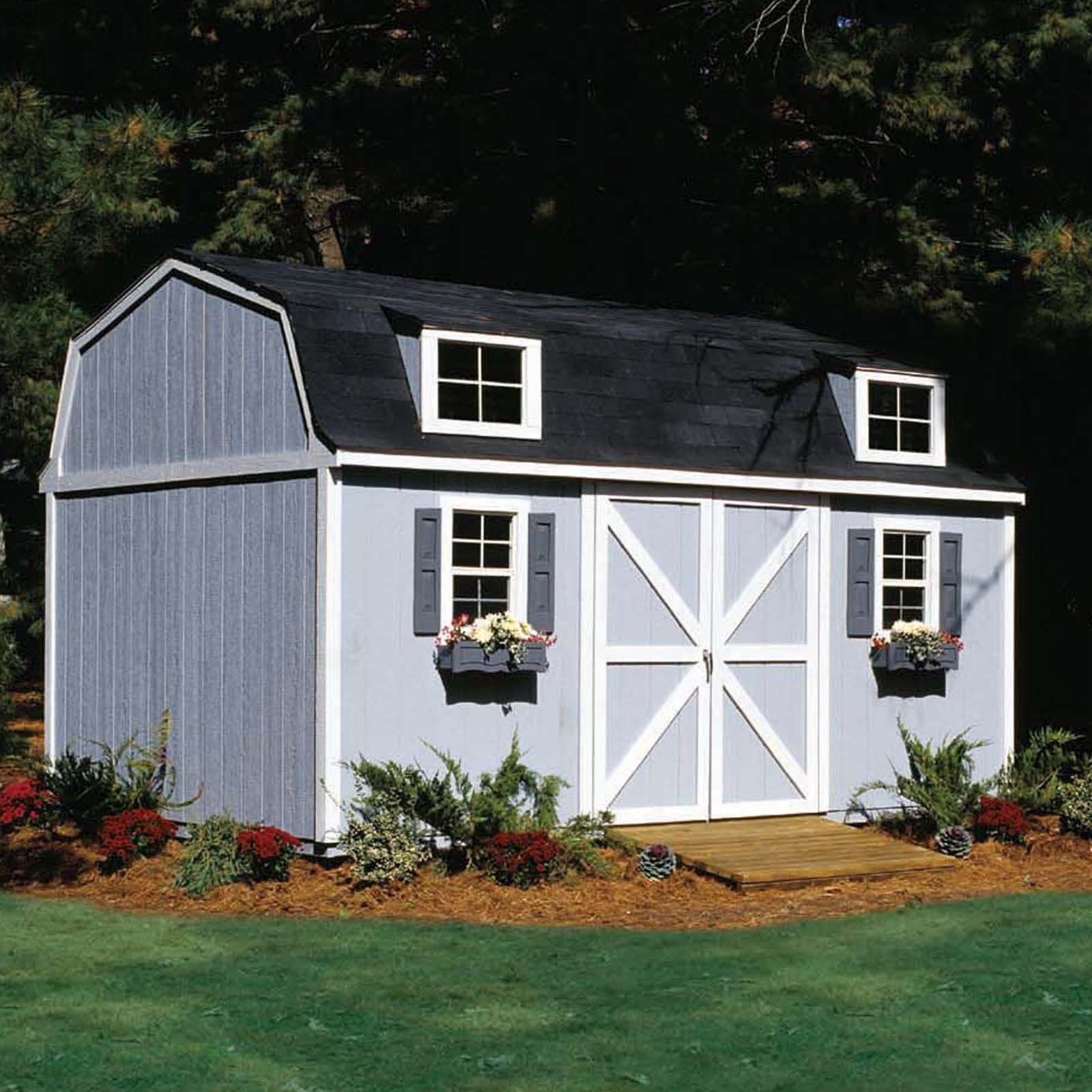 Have To Have It Handy Home Berkley Storage Shed 10 X 16 Ft 2999 98 Wood Storage Sheds Storage Building Kits Building A Shed