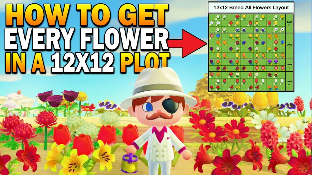 Breed EVERY Hybrid Flower In A 12x12 Area! Datamined