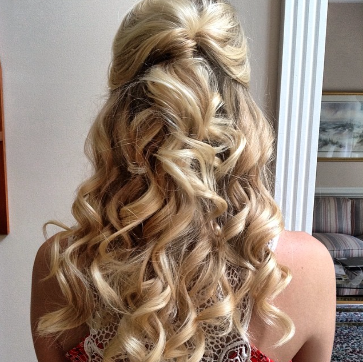 Soft Romantic Curls In A Half Up Style: Romantic, Curly, Half-up Half-down Wedding Hair // By LULA