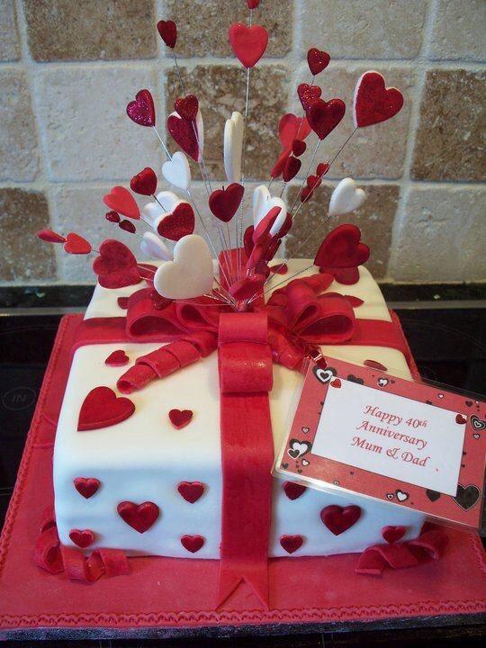Ruby Anniversary Cake Cakes Pinterest Ruby Wedding Cake Cake