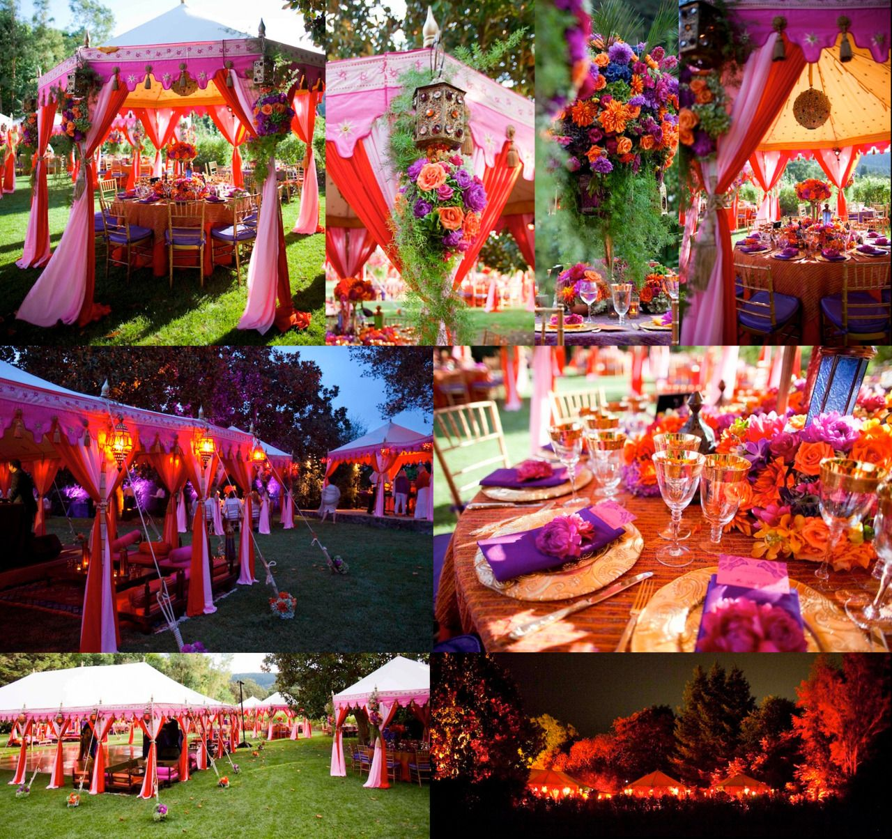 Purple Weddings Ideas: Red, Orange And Purple Bohemian Wedding Theme