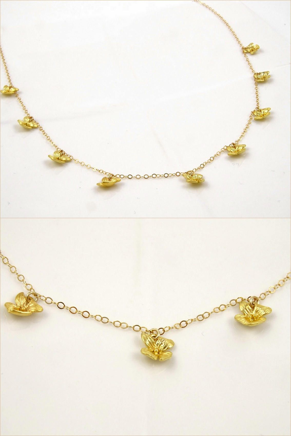 Flower Necklace Charms Great Wedding Gifts Wedding Jewelry Gold