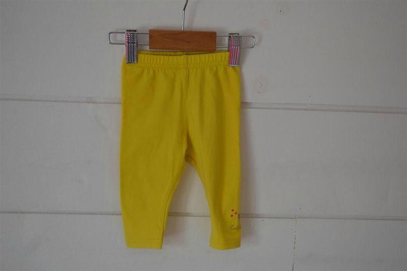 Leggins en coton jaune imprimé Catimini - 3M