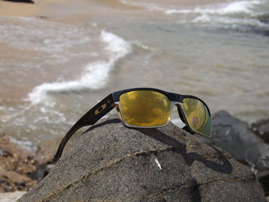 Oakley Two Face (A) Polished Black lente 24k Gold iridium http://www ...