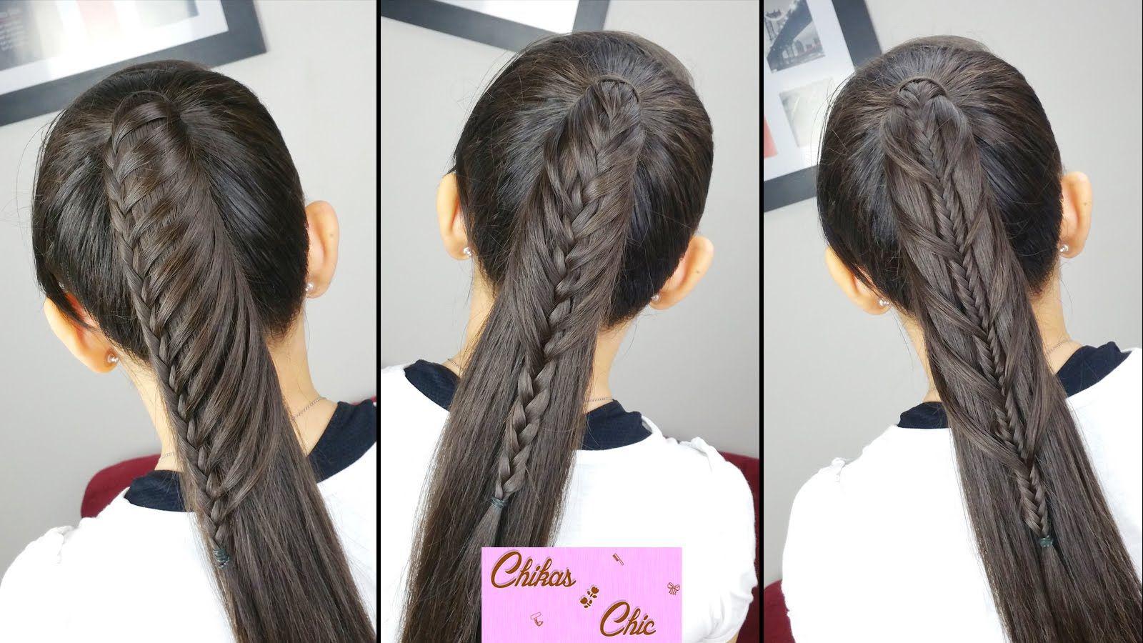 peinados faciles y rapidos cola con todo el cabello 3 opciones