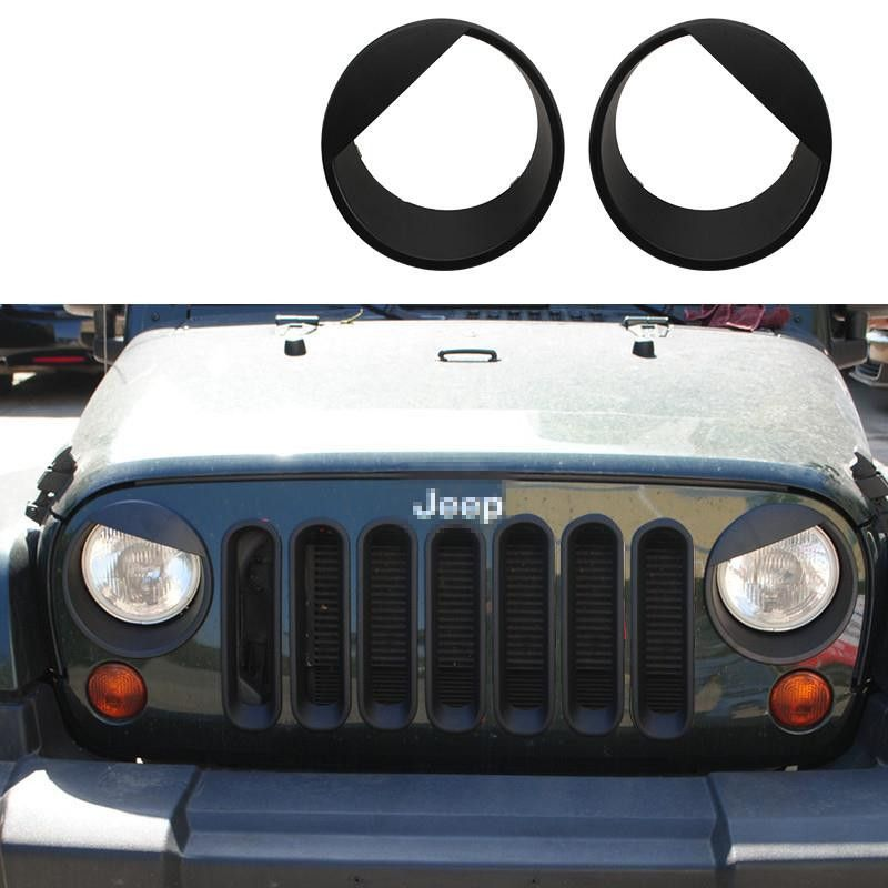 Jeep Jk Angry Eyes Headlight Inserts Jeep Jk Jeep Jeepster