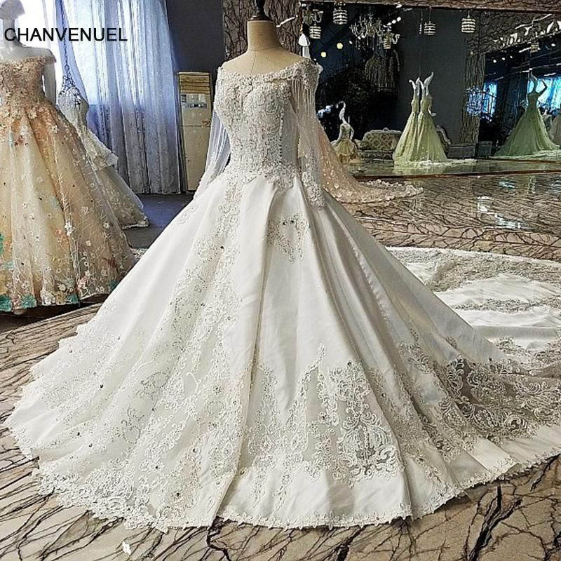 LS00112 Luxury wedding dress for bridal beading ball gown long ...