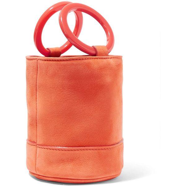 Bonsai 15 Mini Nubuck Bucket Bag - Orange Simon Miller 2dotBgD0N