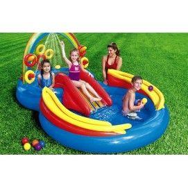 Playground Arcobaleno Intex 57453 Piscinetta Scivoli Gonfiabili