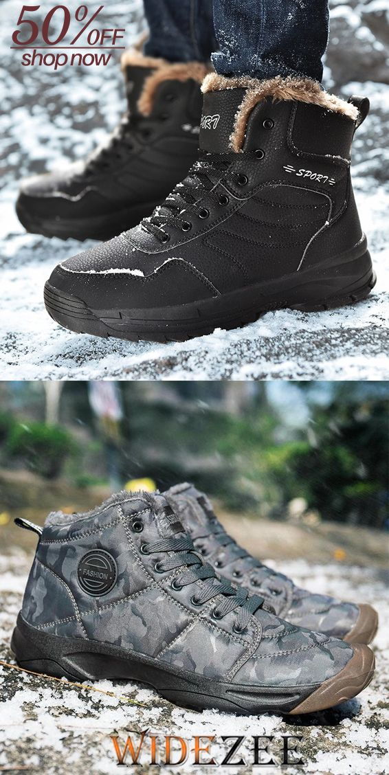 Outdoor Cotton and Velvet Warm Hiking Boots (с