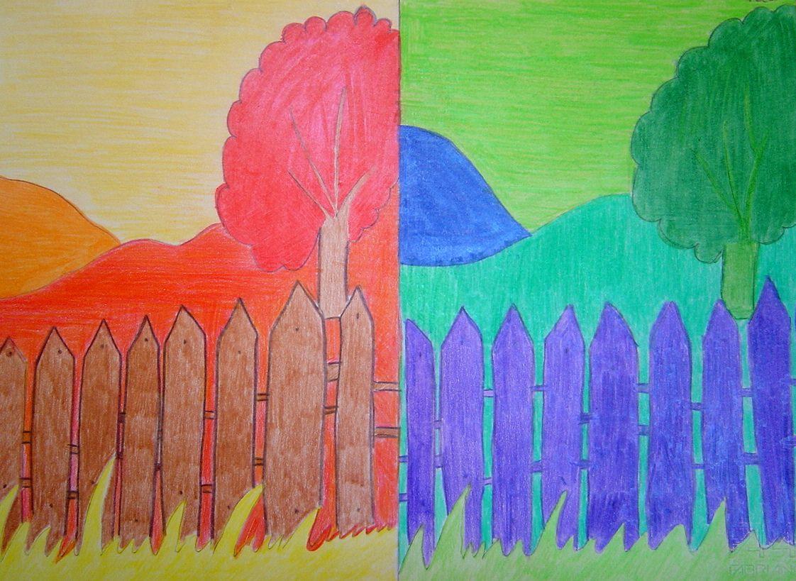 Landschap in koude en warme kleuren koude en warme for Disegni a colori caldi