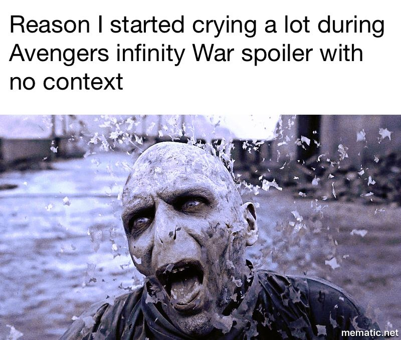 Infinity War Spoiler With No Context And Reason Why I Cried So Much During The Movie Avengers Spoilerwi Avengers Infinity War Marvel Memes Marvel Characters