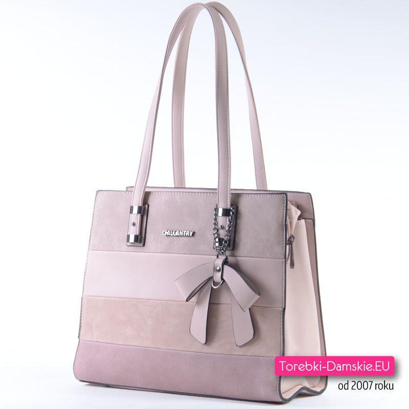 6cb5b1e30c66e Torebka w modnych pastelowych odcieniach koloru różowego - nowość - model  praktyczny