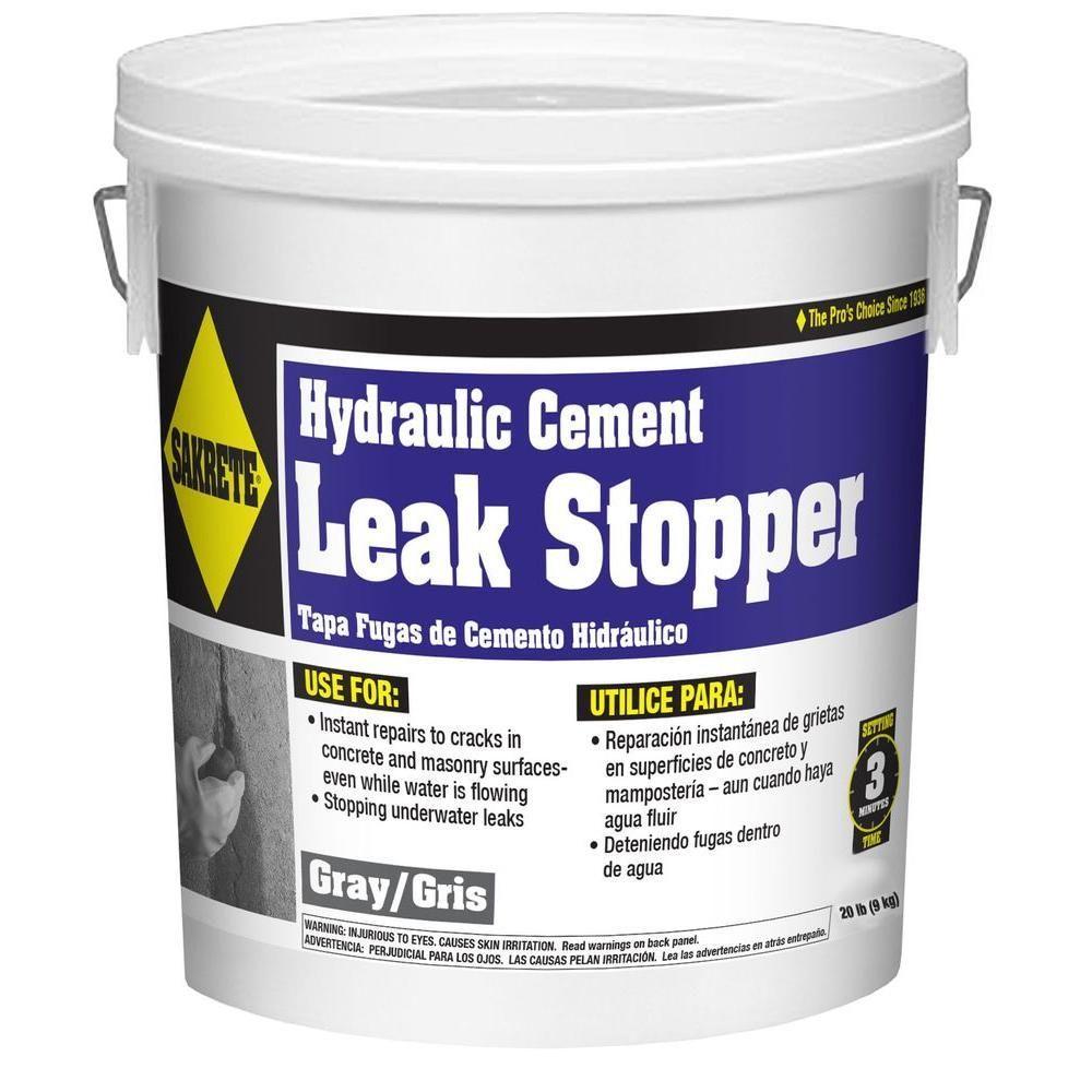 Sakrete 20 Lb Gray Leak Stopper 65450006 The Home Depot Concrete Leak Repair Leaking Basement