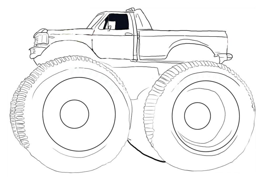 free printable monster truck coloring pages for kids monster jam