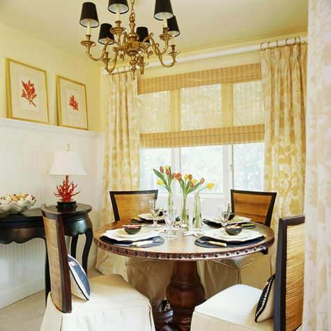 Board and battenone side Decorating a Small Dining Room | Small ...