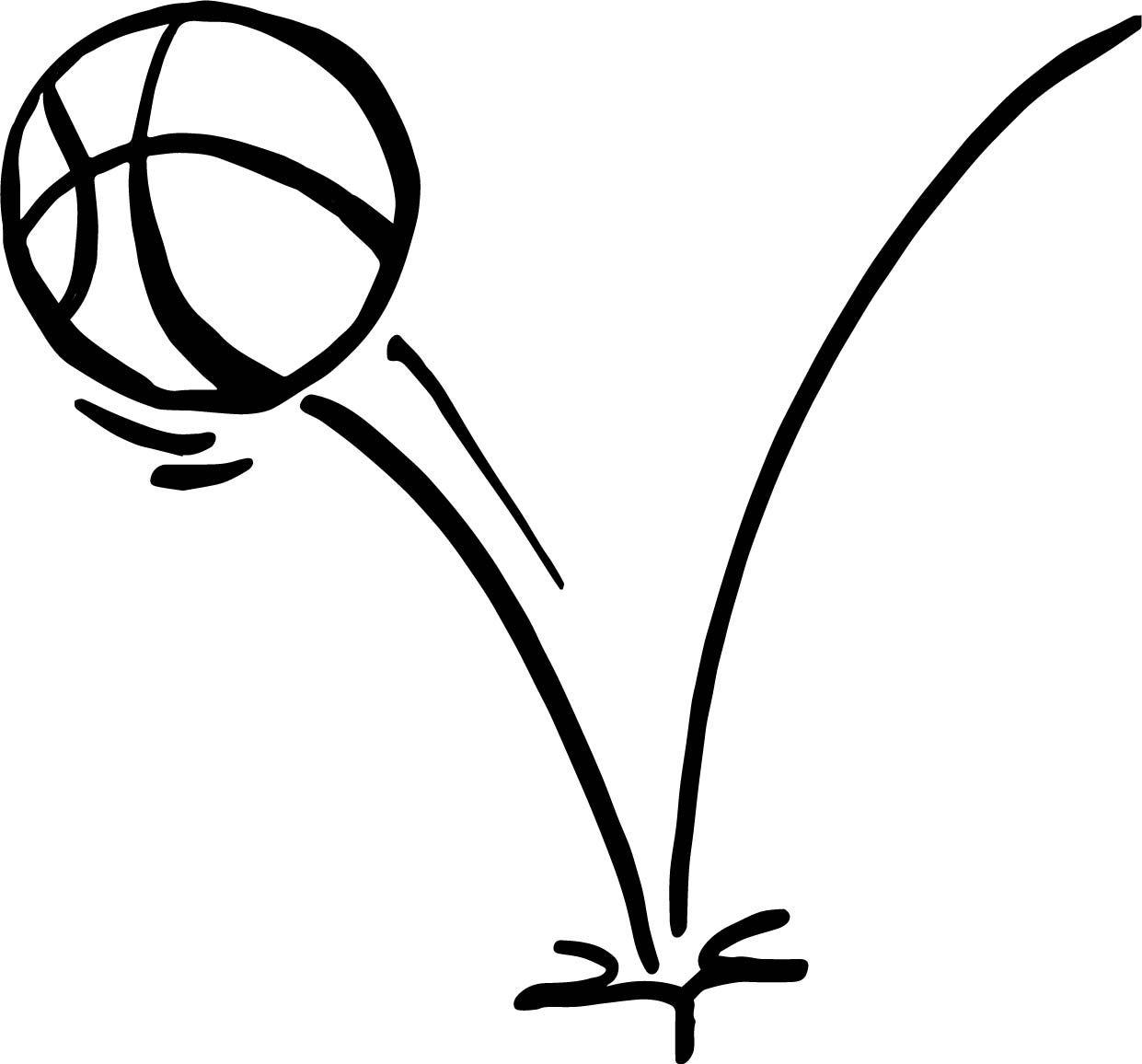 Nice Jump Ball Playing Basketball Coloring Page