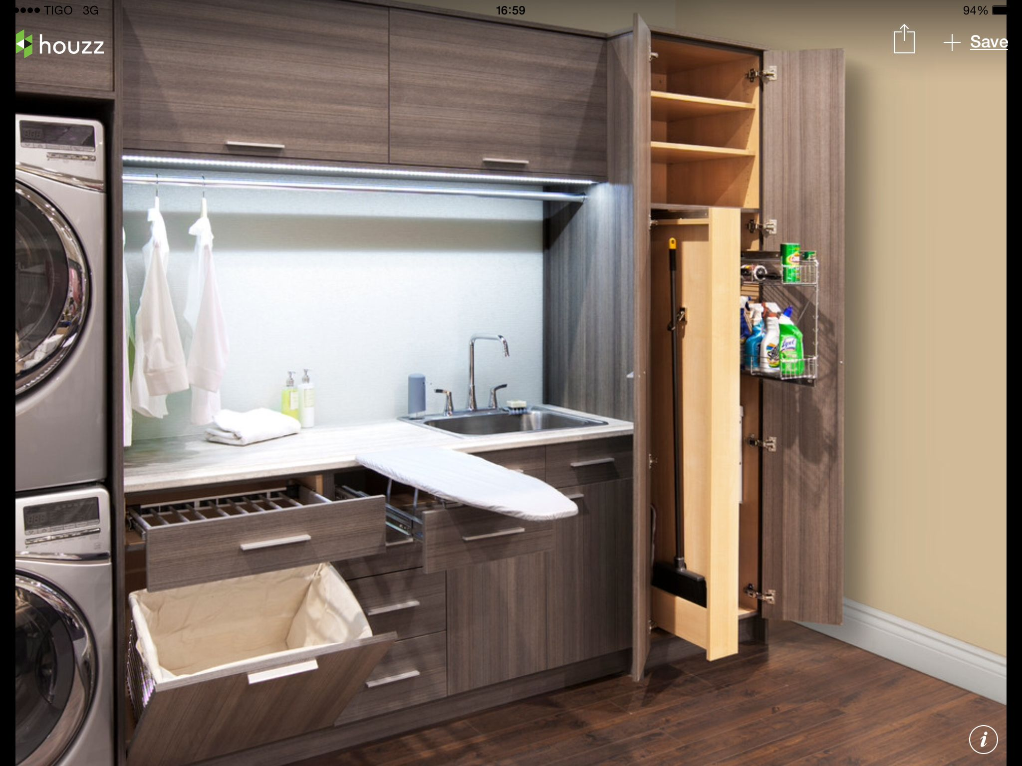 Mueble con planchador para la lavandería. | Home, Laundry ...