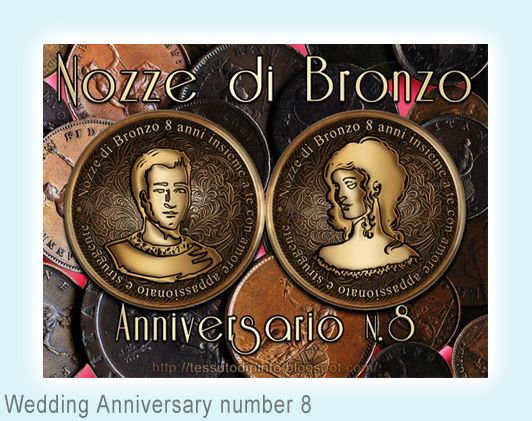 8 Anniversario Di Matrimonio.Wedding Anniversary Number 8 Nozze Anniversari Anniversario