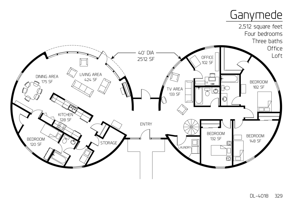 Floor plans multi level dome home designs monolithic Underground home plans designs
