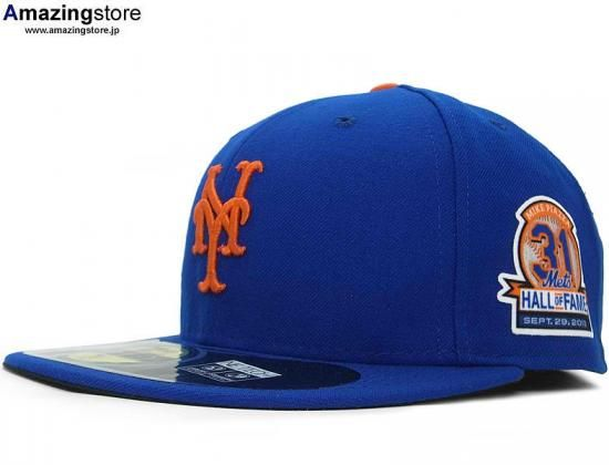New York Mets Mike Piazza Hall Of Fame Patch 59fifty Fitted Baseball Cap By New Era X Mlb Fitted Baseball Caps New York Mets Baseball Cap
