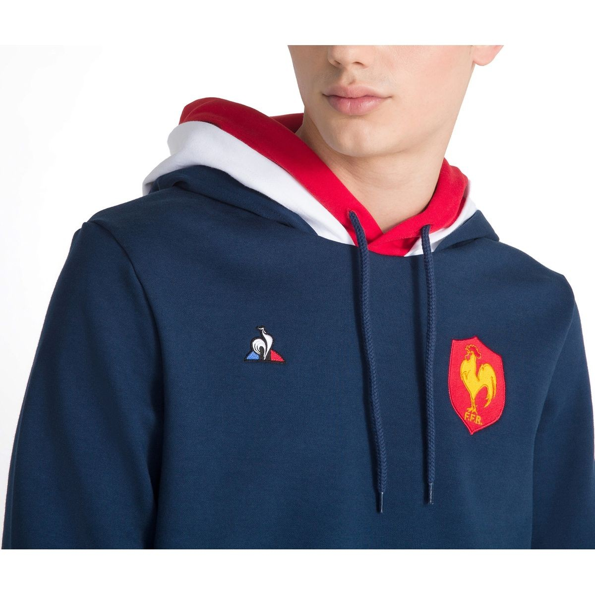 Sweat À Capuche Rugby France Ffr Bleu Taille : L;M;S;XL