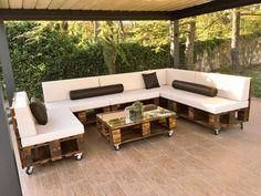 muebles de terraza con palets ms - Terraza Con Palets