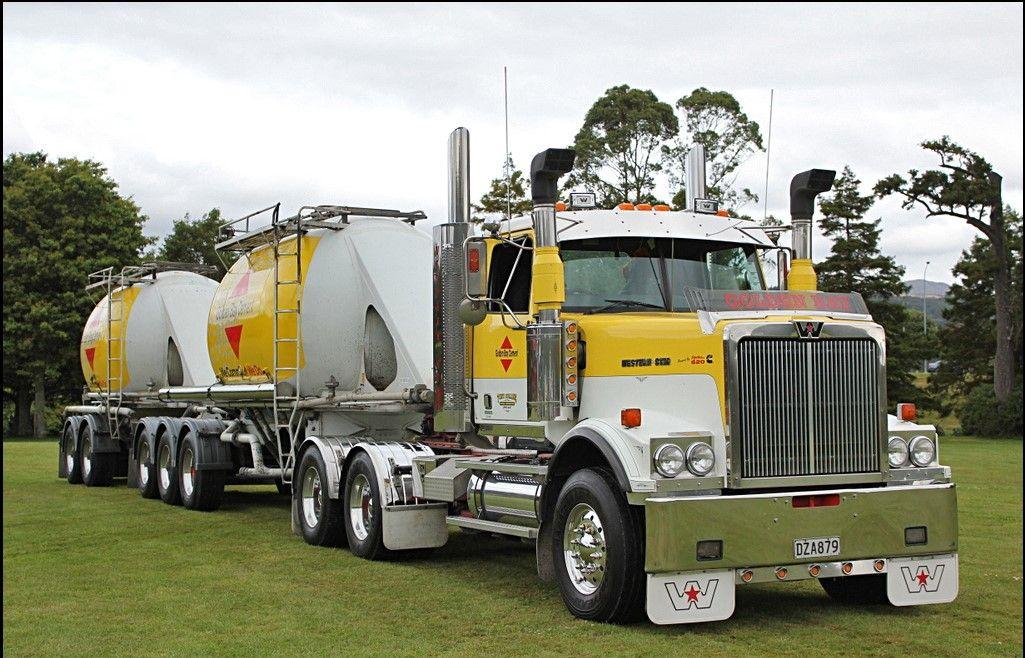 Westen Star B Double Tanker Western Star Trucks Trucks White Truck