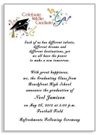 College Graduation Party Invitations Invitations and announcements