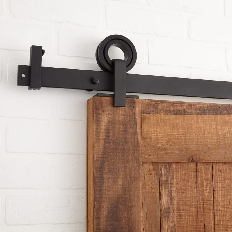 Signature Hardware 440999 10 Nd Karl 120 Inch Barn Door Hardware Set Includes Black Barn Door Hardware In 2020 Barn Door Hardware Barn Door Modern Sliding Barn Door