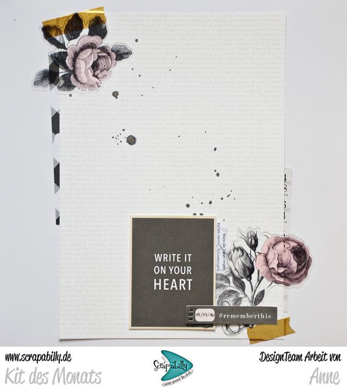 Bunterpinguin: Scrapbooklayout für Scrapabilly mit Maggie Holmes Gather