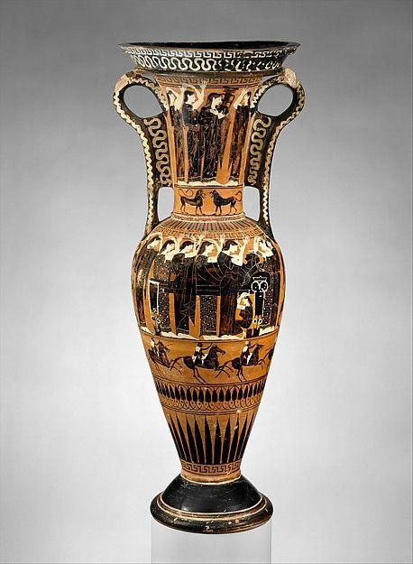 Terracotta Loutrophoros Ceremonial Vase For Water Period