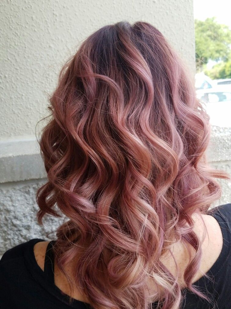 Rose Gold Hair By Chelsea Chelvis4hairz Fab Hair In 2019