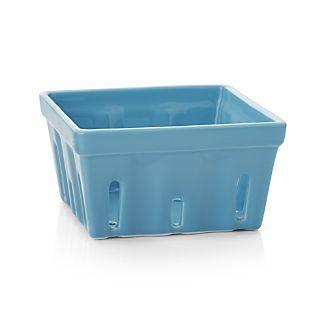 Berry Box Blue Colander
